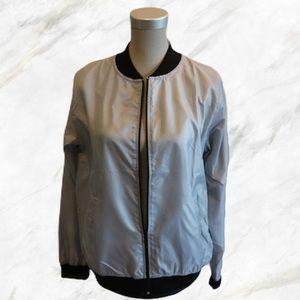 PLT | Light Grey Bomber Style Rain Jacket